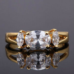 Beautiful Oval White Sapphire 10KT Gold Filled Ring Edmonton Edmonton Area image 3