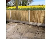 🔨🌟Excellent Quality Close Board Tanalised Flat Top Wooden Fence Panels