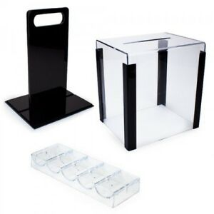 Poker Chip Case. 1000 Piece. Clear Acrylic with carry handle.