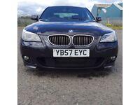 2008(57) BMW 525d 3.0L m sport AUTOMATIC,195 BHP diesel 102mil..dark blue matalic