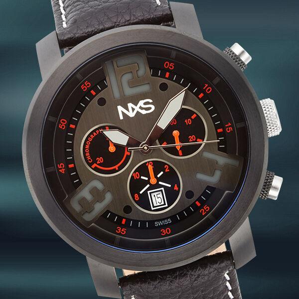 Rare NXS Swiss Chronograph Hoffman Mens Watch / MSRP $1,995.