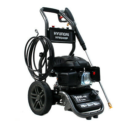 Powerful 6hp Petrol Pressure Washer 2400psi Jet Wash Lance&Hose 4 QR Nozzles