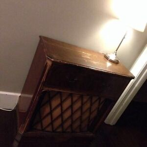 Antique radio table MADE IN KITCHENER