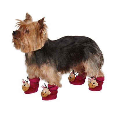 - East Side Collection MONKEY BUSINESS DOG SLIPPERS Tiff Magenta SIZE SMALL