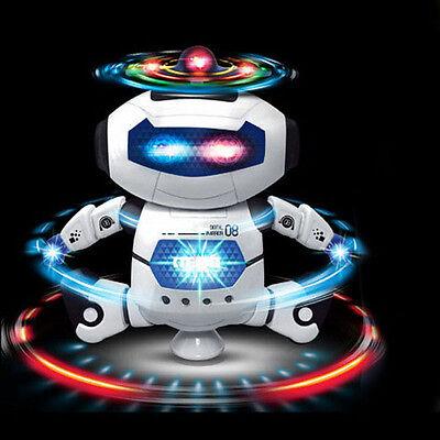 Popular Smart Space Walking Dancing Robot 360° Rotate Electric Music Light Toys
