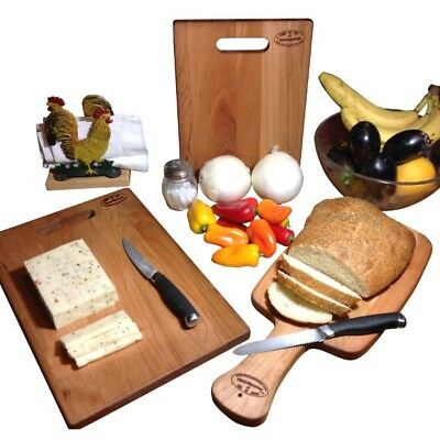 Cherry Cutting Board Hard Wood Reversible Bread Paddle Cheese Natural Laminated  Cherry Reversible Cutting Board