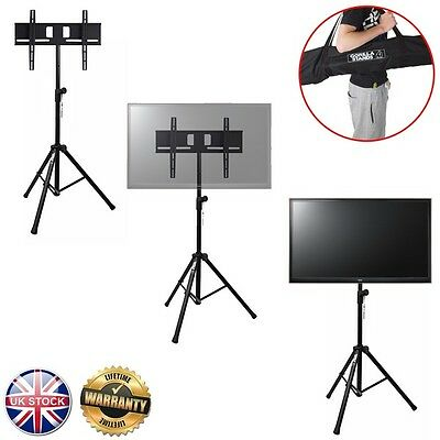 "Gorilla Portable Tripod TV Floor Stand inc Bracket for 37"" to 51"" LCD/LED Screen"