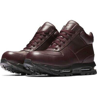 New Nike Air Max Goadome ACG Leather Boots Burgundy Black 865031 604 Mens