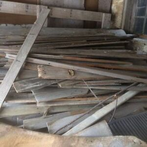 Pile of flooring click barn board style
