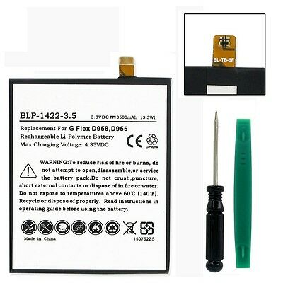 New 3.8V 3500mAh Li-Pol BATTERY w/ TOOLS for LG D959, F340, G FLEX, LS995