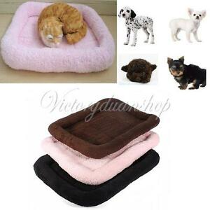 S-M-Soft-Warm-Pashm-Cozy-Pet-Dog-Puppy-Cat-Nest-Bed-Sleep-Mat-Pad-Blanket-Crate