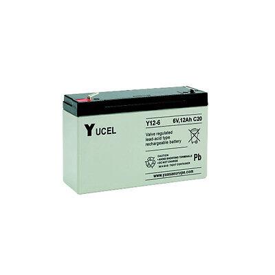 Yucell 6V 12AH Juguete Eléctrico Batería de Coche NP12-6, Y12-6L