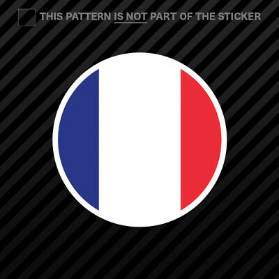 Round French Flag Sticker Self Adhesive Vinyl France circle ()