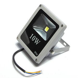 Foco led 10w 12v exterior flood light solar ebay for Foco led exterior 10w