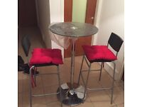Glasses table with stool for ONLY £50 COLLECTION E14