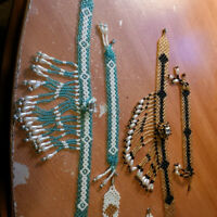 Handmade traditional beads/pearls necklace and bracelet