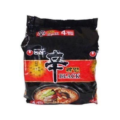 [NongShim]Shin Ramyun/Ramen Black Korean Spicy Noodle 4pcs_NU