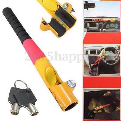 New Universal Heavy Duty Anti Theft Car Van Wheel Steering Lock Security Crook
