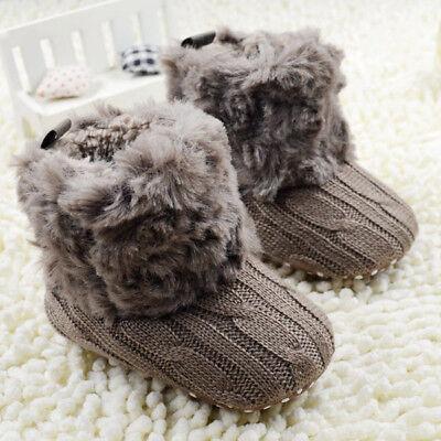 0-18M Newborn Baby Boy Girl Snow Boots Infant Toddler Kids C