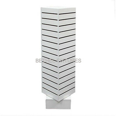 12 Slatwall Rotating Tower - White Slatwall Merchandiser - Sw-1212w