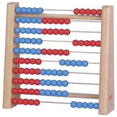 Rechenrahmen mit 100 Perlen aus Holz Abacus Abakus Rechenschieber Rechenhilfe