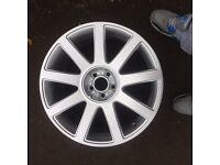 """Audi 18"""" 9 spoke alloys genuine"""