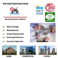 We Provide Expert Water, Flood Damage/Restoration for the G.T.A.