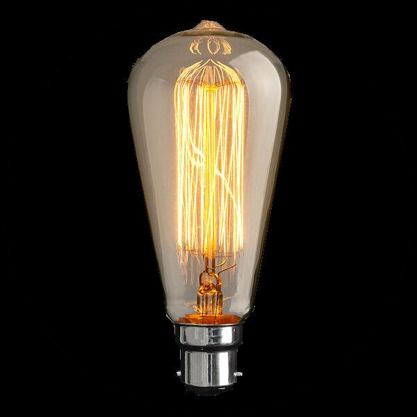 Vintage Loop Carbon Filament Light Bulb Edison Style 40 W