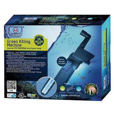 AA Aquarium Green-Killing Machine Internal UV Sterilizer fish tank up 50 gallons