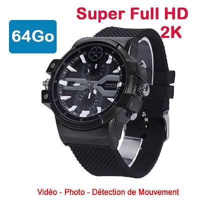 Reloj Mini Cámara Espía 64 Go 2K Super Full HD 2304 X...