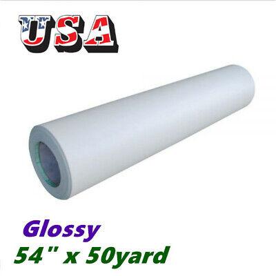 Us Stock 54 X 50yd Glossy Cold Laminator Laminating Film Paper Adhesive Glue