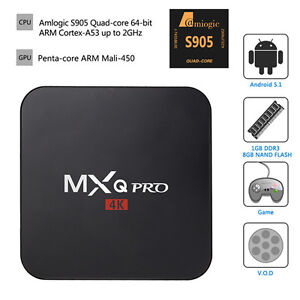 MXQ Pro Android TV Box - Android 5.1 Lollipop