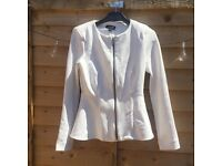 Topshop white peplum jacket size 8