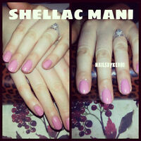 Mani/Pedi, Real UV Gel Nails, Shellac, Home Spa