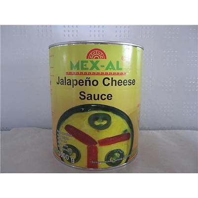 Jalapeno Cheddar Cheese Sauce, ideal als Dip für Chips und Tacos, 3 kg