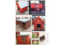 All Brand new Dog kennels, Rabbit hutches, Chicken coops and runs for sale.