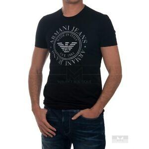 t shirt armani jeans t6h43 noir ebay. Black Bedroom Furniture Sets. Home Design Ideas