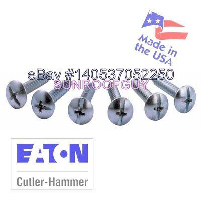 Eaton Cutler-hammer Brch Panel Cover Screw Set 6pk Lccscs - New