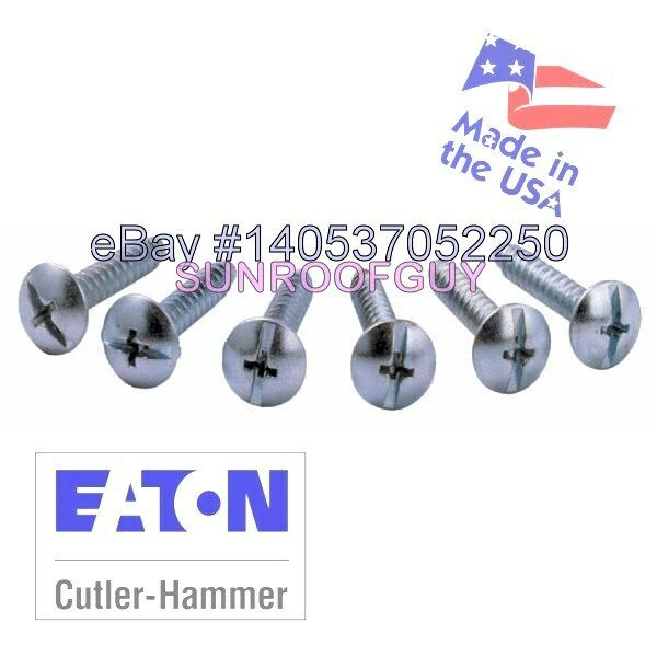 EATON Cutler-Hammer BR/CH Panel Cover Screw Set (6/pk) (LCCSCS) - NEW