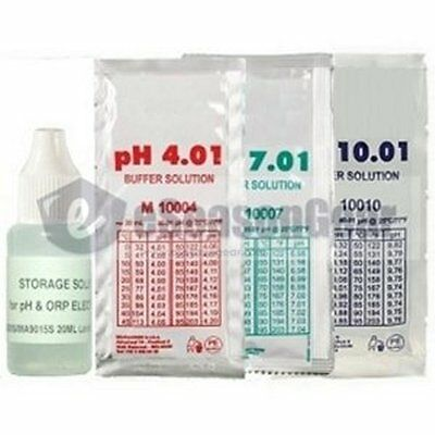 4x20ml, Storage + pH 4 + 7 + 10 Buffer Calibration/Solution/Fluid/Probe/Tester (4 Ph Buffer Solution)