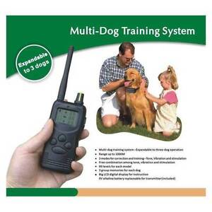 1000M LCD PET REMOTE DOG COLLAR TRAINING ANTI BARK STUBBORN Cannington Canning Area Preview