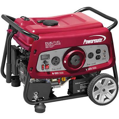 Powermate Df3500e - 3500 Watt Electric Start Dual Fuel Portable Generator 49...