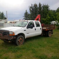 $11,995 - 2001 F450 4x4 Crewcab Picker Truck