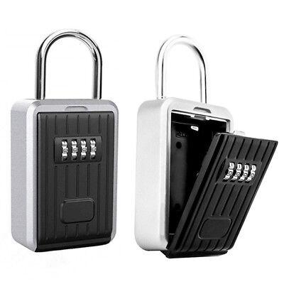 4 Digit Key Lock Box Wall Mount Realtor Real Estate Safe Box Shackle Padlock Box