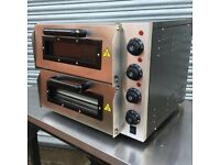 2-Deck Stainless Steel Electric Pizza Oven 20″