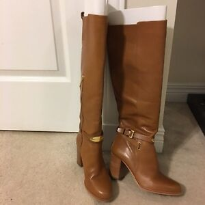 Michael Kors Leather Boots. Worn once. Size 5 1/2