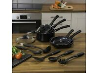 SWAN NON STICK PAN SET WITH UTENSILS