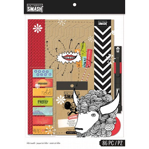 K & Company Smash Scrapbook Folio gift pack, Red