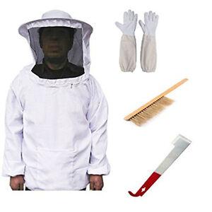 Beekeepers Imkerjacke Schutzanzug Hut Schleier Jake Handschuhe mit Werkzeug Set