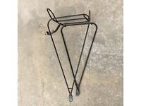 Front bicycle rack for touring bike panniers 700c wheel